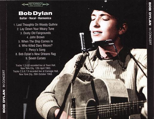 In Concert - BobsBoots - Bootleg CD-
