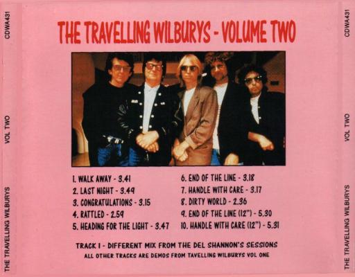 Traveling Wilburys Vol 2 Beta Cd Bootleg